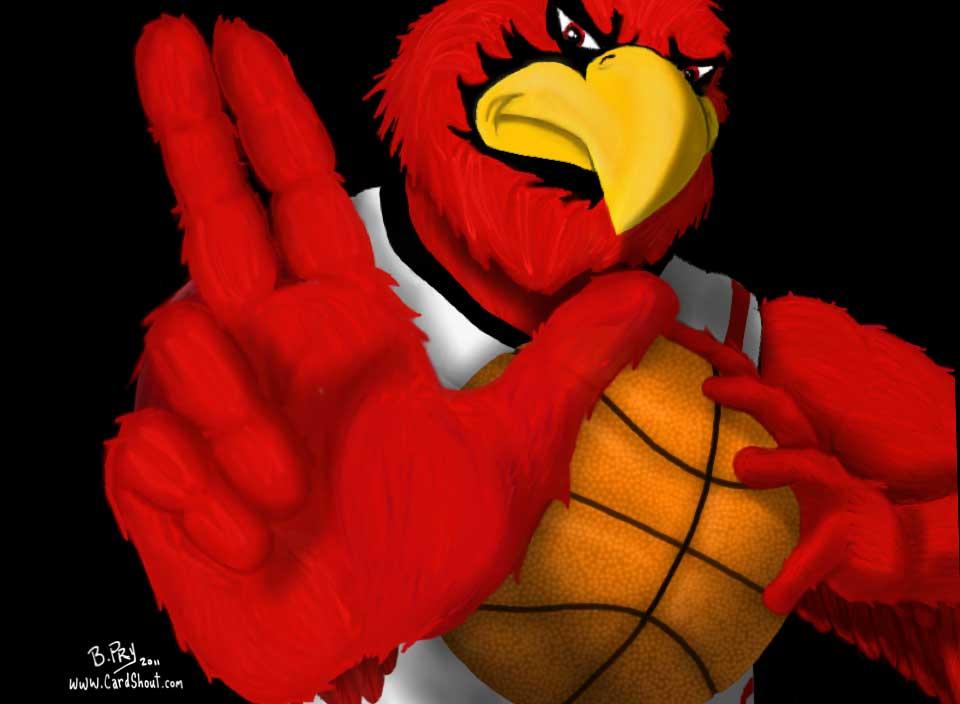 Cardinal Basketball Logo